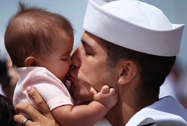 And a sailor meets his daughter.