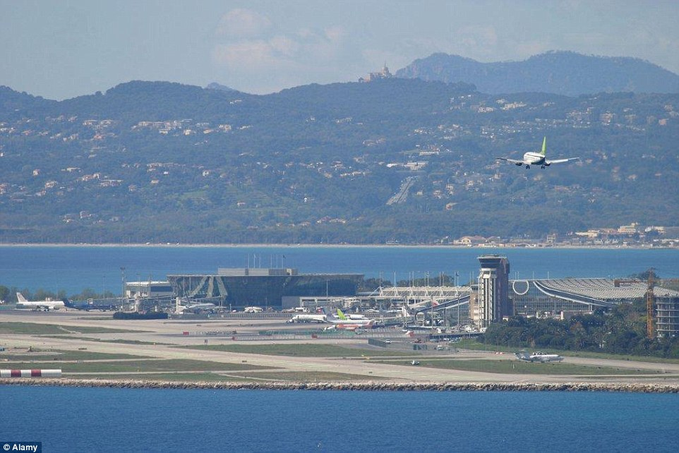 the most iconic airport landing spot was Nice Cote D'Azur