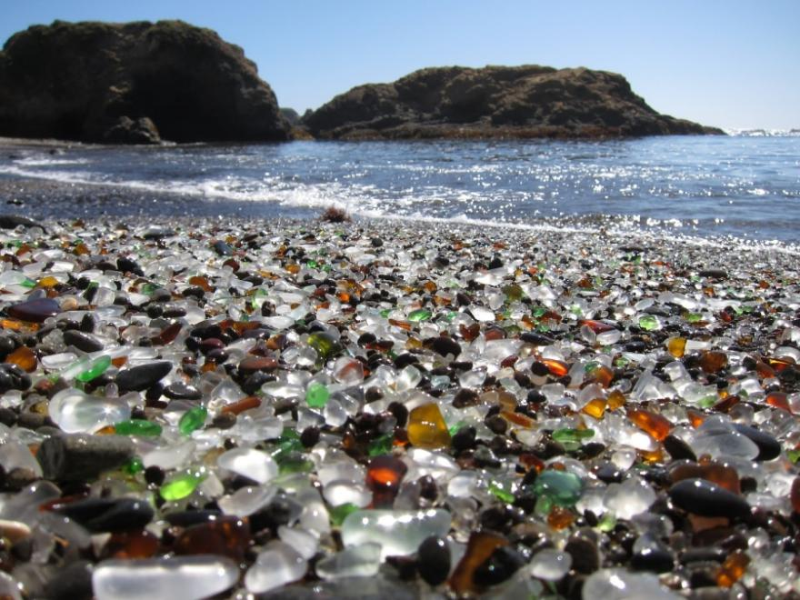 | Unique Glass Beach in California