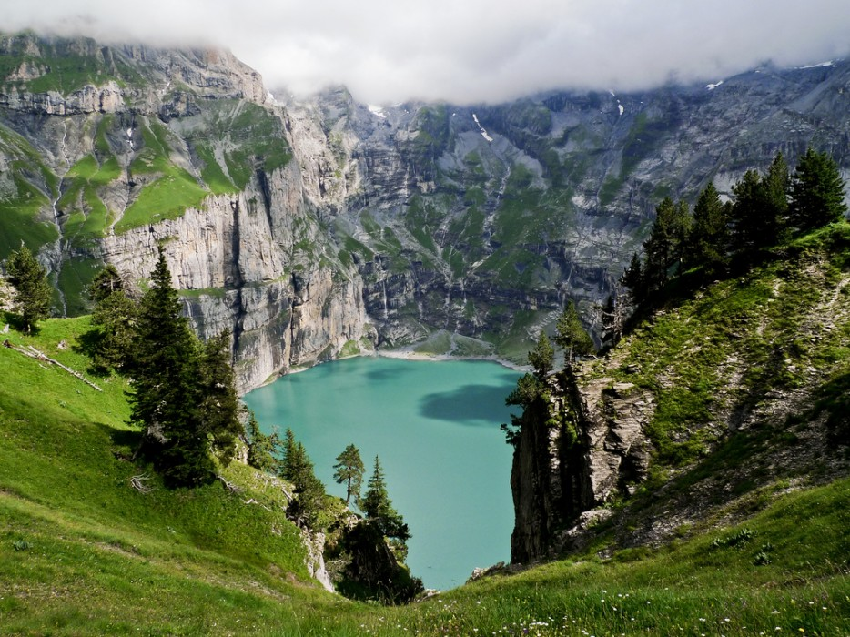 Öschinensee Lake, Lötschberg, Switzerland