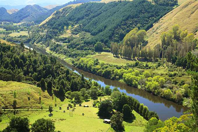 The Whanganui River, North Island, New Zealand