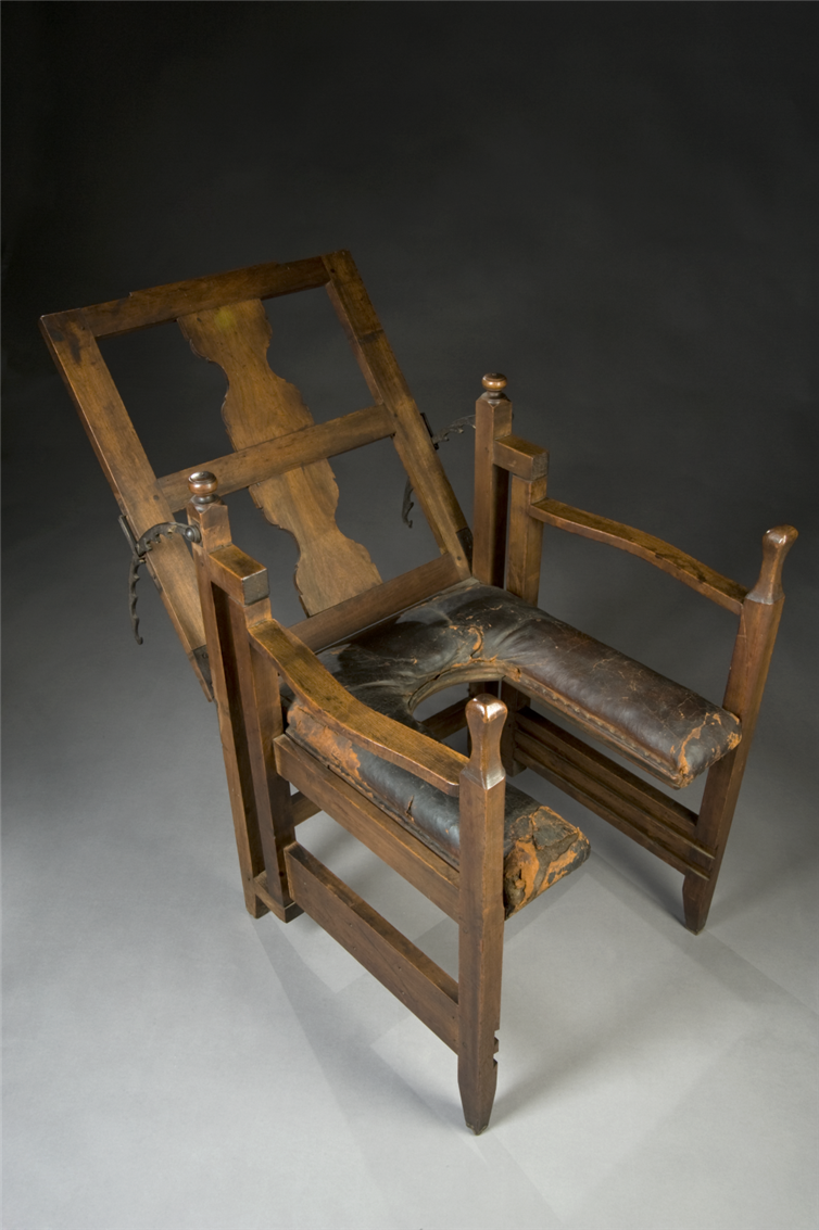 European birthing chair, circa 1750. It's adjustable!