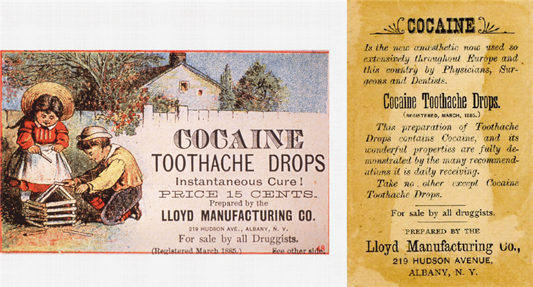 The cure that may have caused never-ending toothaches. Circa 1885.