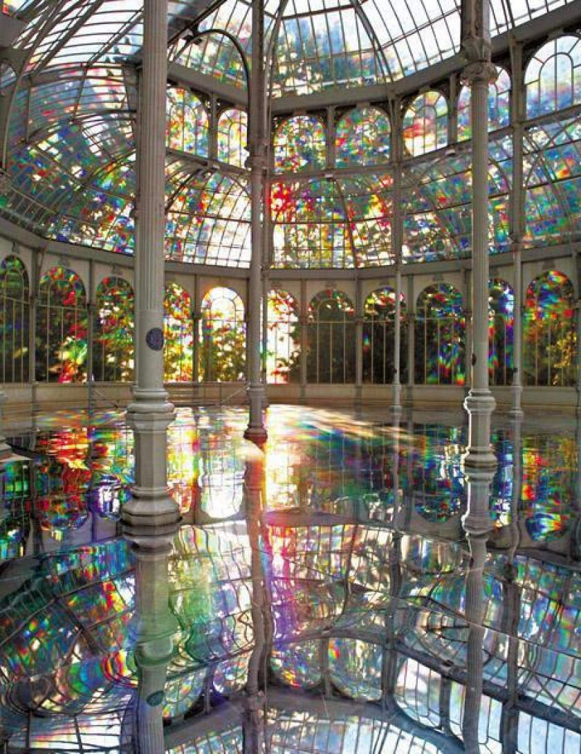 The Room of Rainbows, located inside the Crystal Palace in Madrid, Spain.