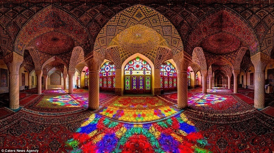 The stunning Nasir Al-Mulk Mosque in Iran.