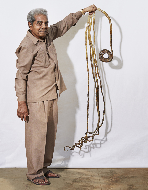 Shridhar Chillal ¿ Longest Fingernails - Single HandnGuinness World Records 2015nPhoto Credit: Ranald Mackechnie/Guinnes World Records