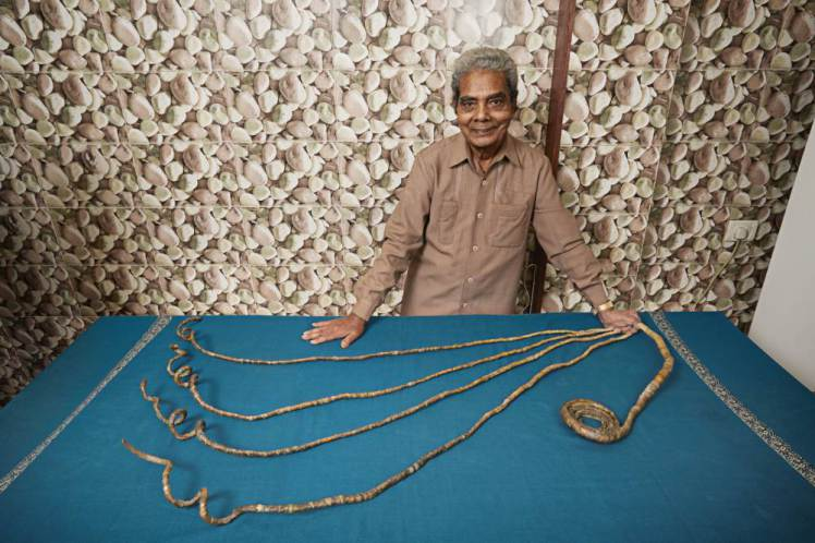Shridhar Chillal ñ Longest Fingernails - Single Hand Guinness World Records 2015 Photo Credit: Ranald Mackechnie/Guinnes World Records