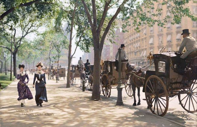Madison Square Park New York-ban, 1900