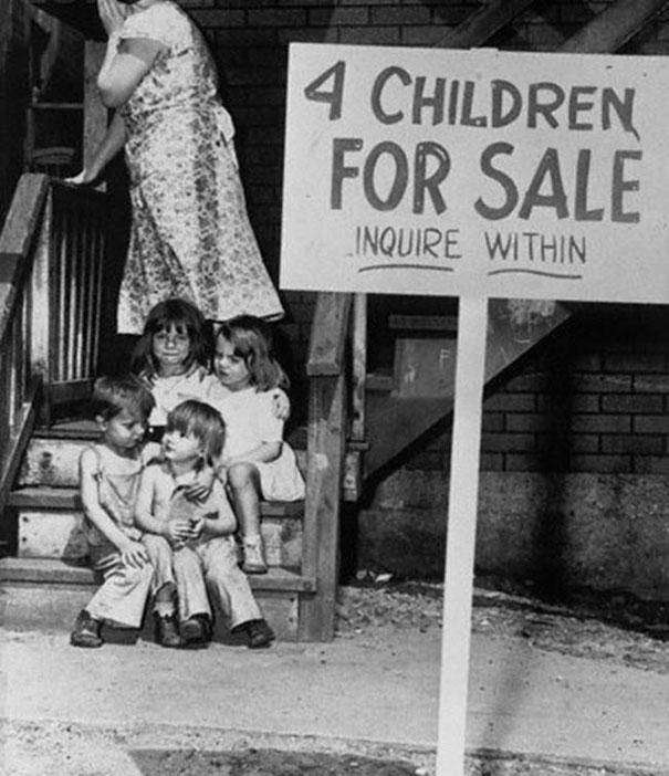 1948: A mother in Chicago puts her four children up for sale.