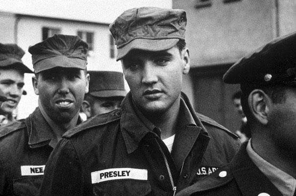 1958: During the Vietnam War, even Elvis was drafted into the U.S. Army.