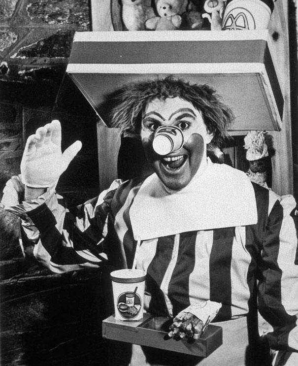 1963: McDonald's first version of Ronald McDonald
