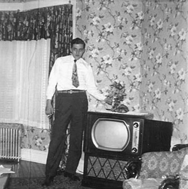 People Standing Next to Their Televisions (5)
