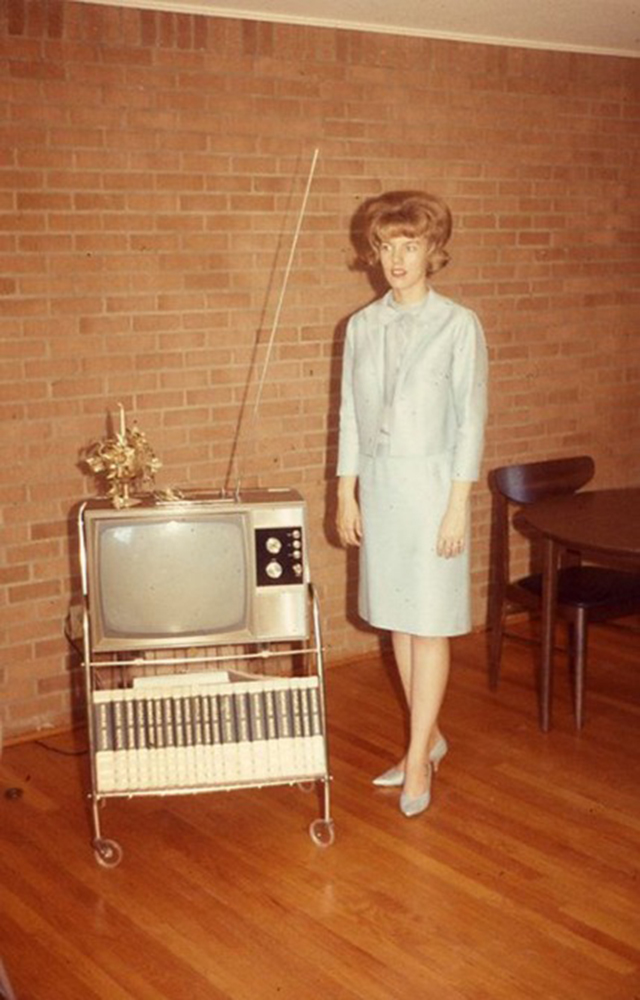 People Standing Next to Their Televisions (7)