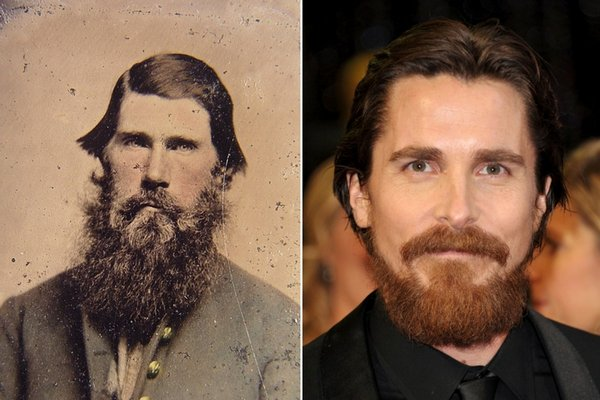 Christian Bale and this Civil War soldier