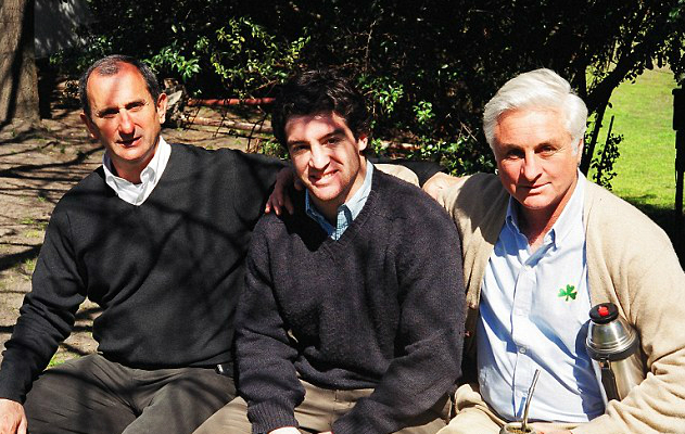 Gustavo Zerbino Hilario Canessa and Roberto Canessa (pictured left to right) 30 years after they were rescued following the tragedy