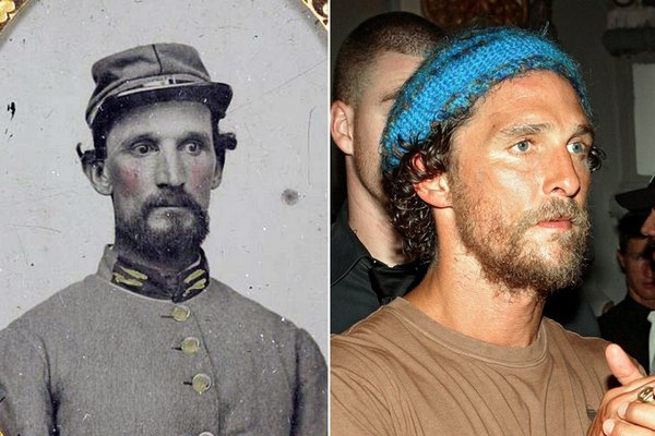 Matthew McConaughey and this Civil War solider