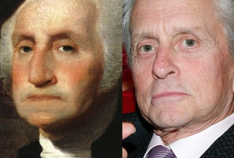 Michael Douglas and George Washington