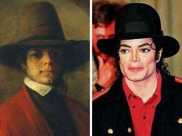 Michael Jackson and this portrait of a young man