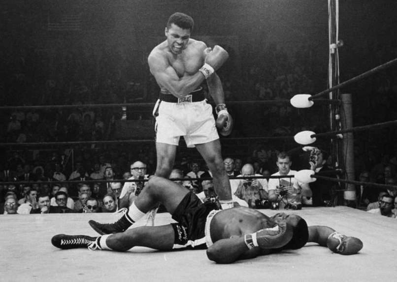 Muhammad Ali's knockout of Sonny Liston. Though he's often more remembered as one of the greatest boxers of all time, he was a key figure in the Civil Rights movement.