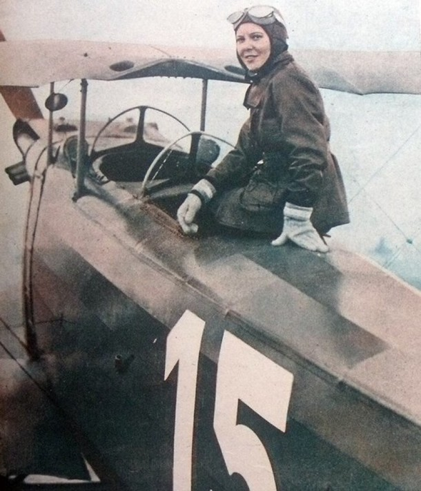 she became the first female fighter pilot.
