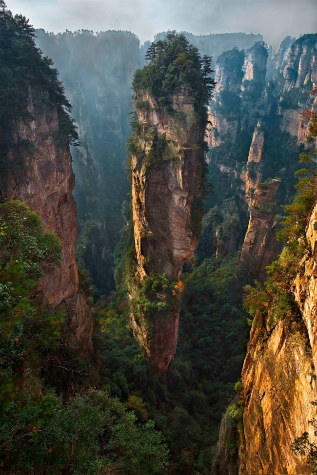 Zhangjiajie National Park, China. All the sketches for the landscapes of Pandora for the movie 'Avatar' were made here.