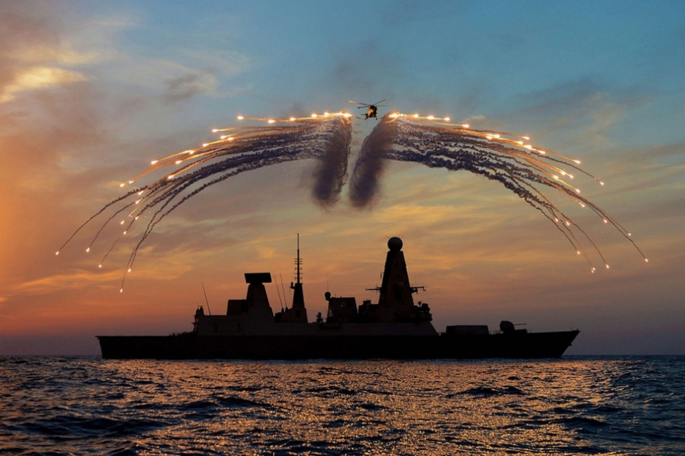 The Royal British Navy puts on a show