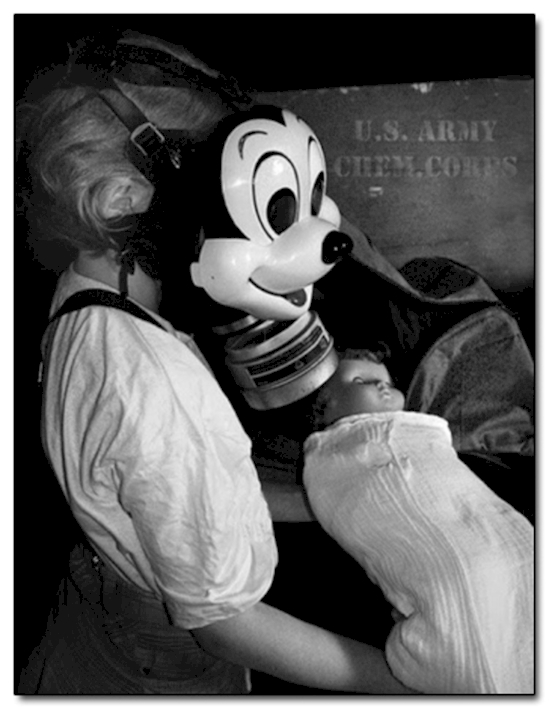 A Mickey Mouse gas mask from 1942.