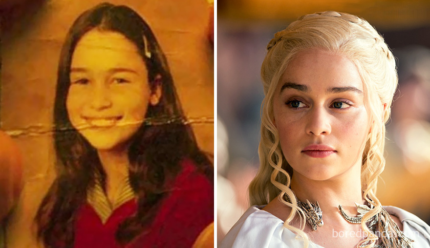 Emilia Clarke When She Was A Child