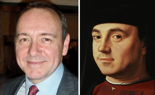Kevin Spacey and 'Portrait of a Man' by Antonello da Messina