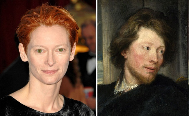 Tilda Swinton and 'Portrait of George Gage' by Anthony van Dyck