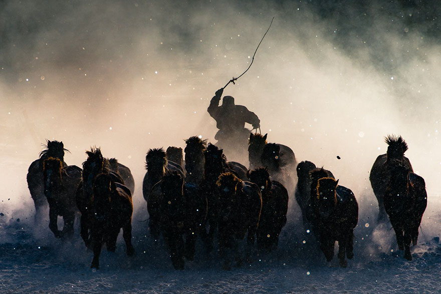 #1 Grand Prize Winner: Winter Horseman, Inner Mongolia Anthony Lau