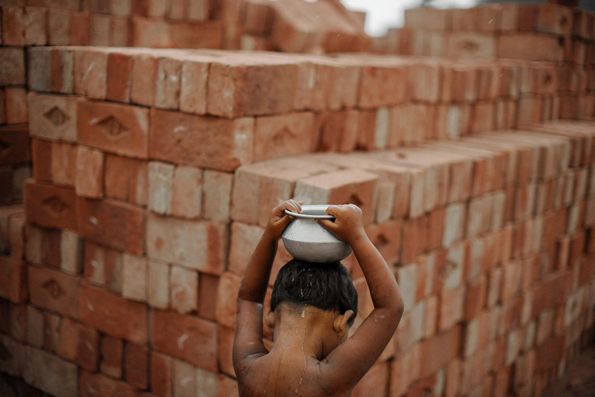 a brick factory in Pakistan