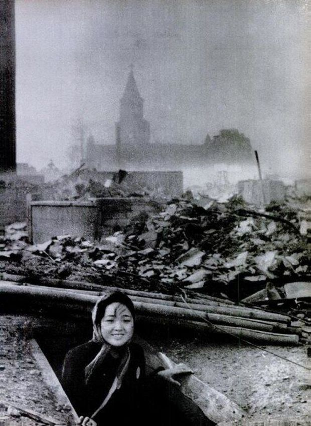 A woman who survived in Nagasaki, 1945.