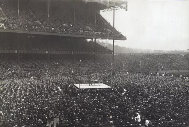 Boxing in the Yankee Stadium, 1923.