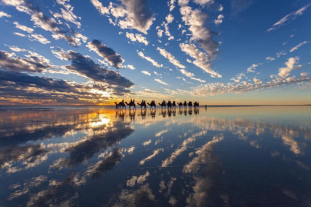 Camel rides along Cable Beach