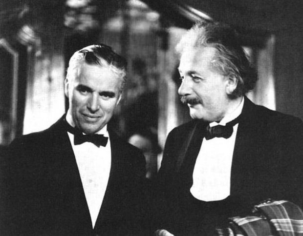Charlie Chaplin and Albert Einstein.