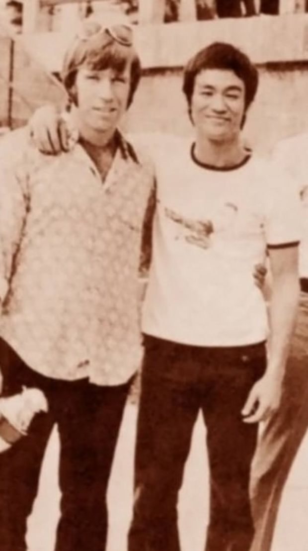 Chuck Norris and Bruce Lee.