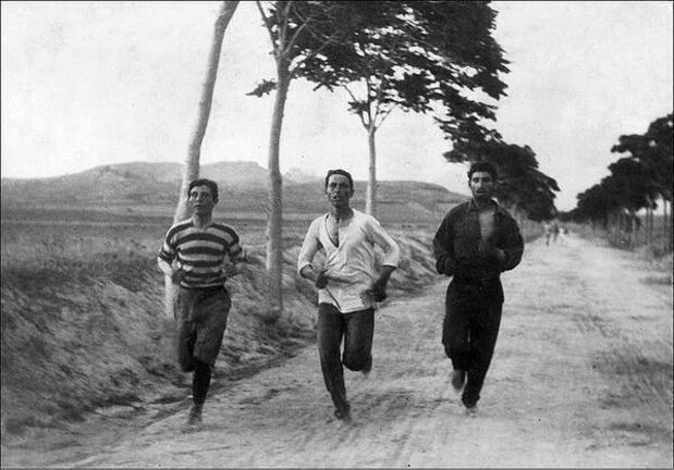 Marathon on the first summer Olympic, Athens,Greece. 1896.