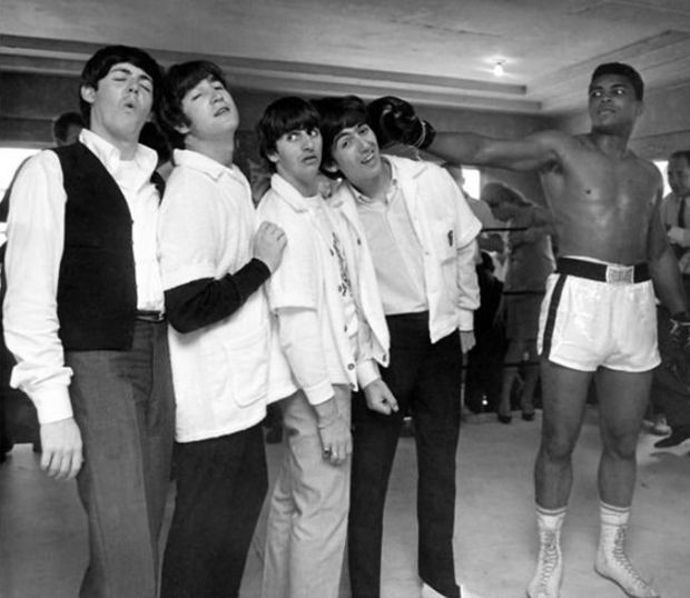 The Beatles and Muhammad Ali. 1964.