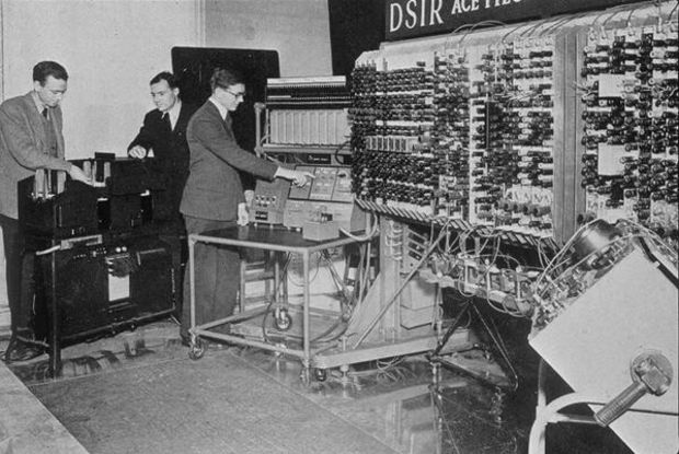 The first computer in England, 1950.
