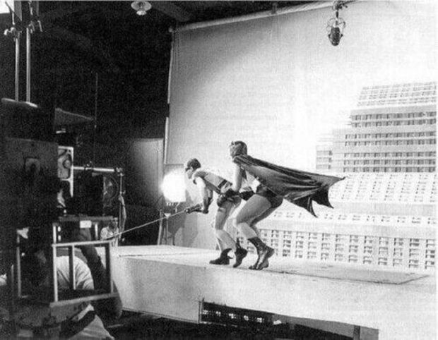 The making of Batman in 1966.