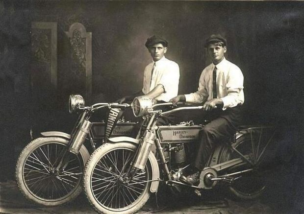 William Harley and Arthur Davidson, 1914.