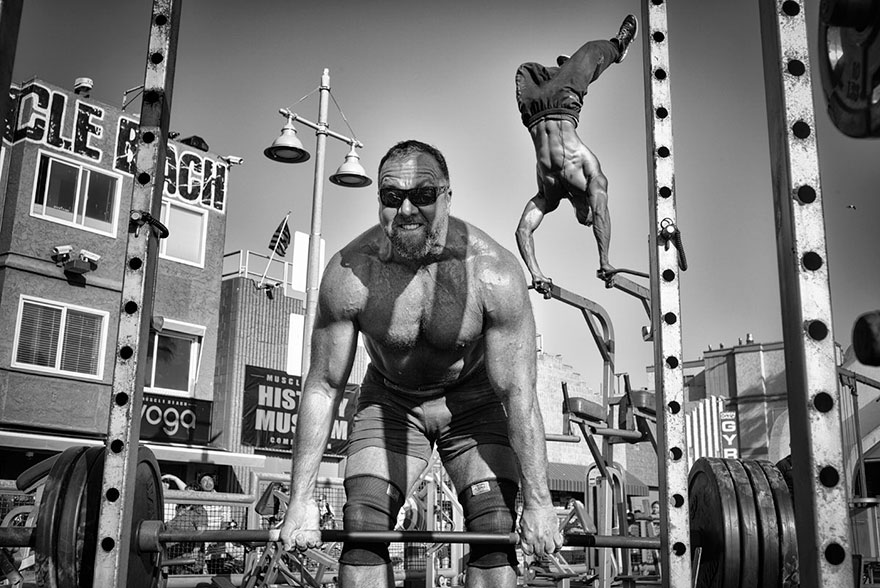 people: Muscle Beach Gym, Venice Beach, California, United States