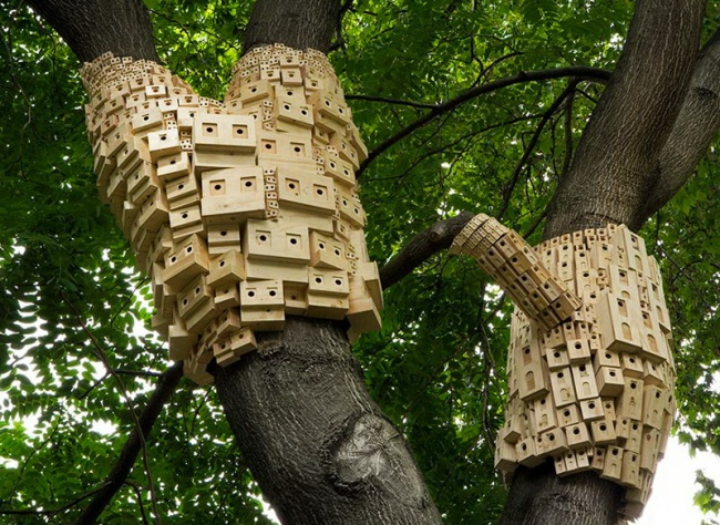 Apartment complexes for birds in London parks