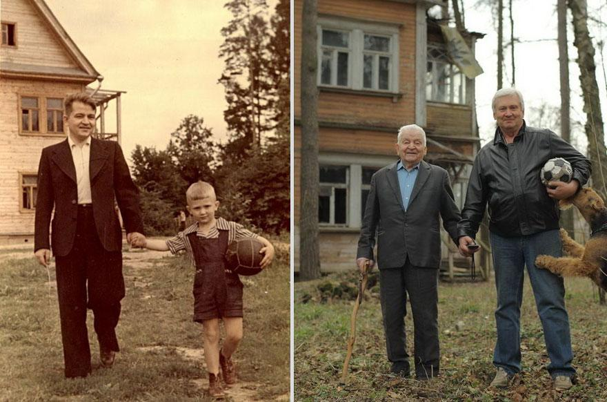 ather and son (1949 vs 2009)