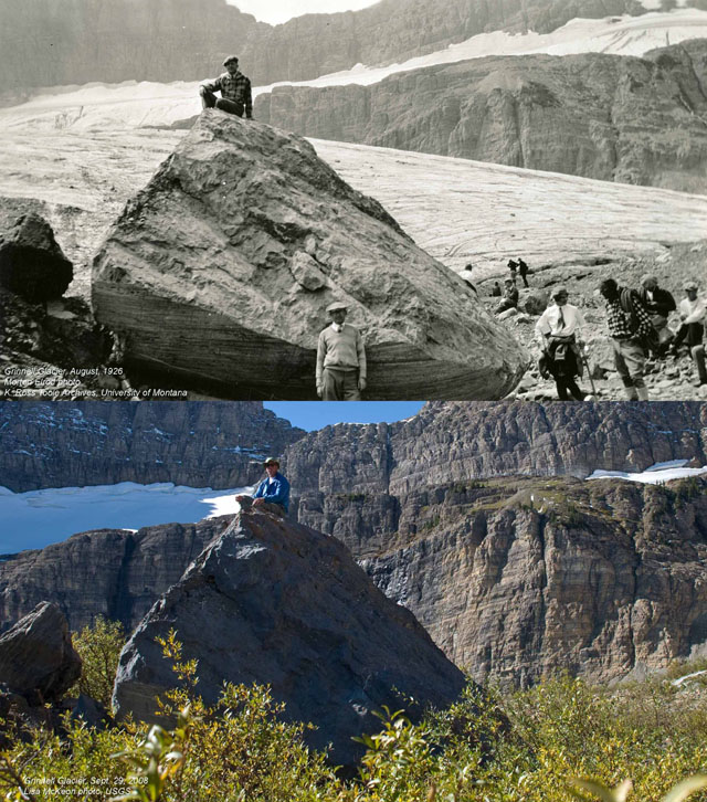 1926 and 2008: Grinnell Glacier in Montana