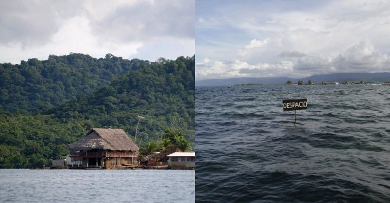 The San Blas archipelago in Panama, 2002 and 2014