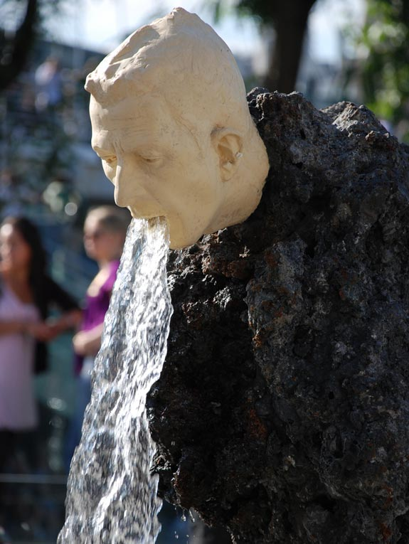 Vomiting Fountain Sculpture (London, UK)