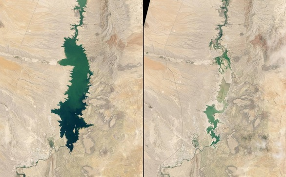 hrinking Elephant Butte Reservoir, New Mexico, 1994 and 2013