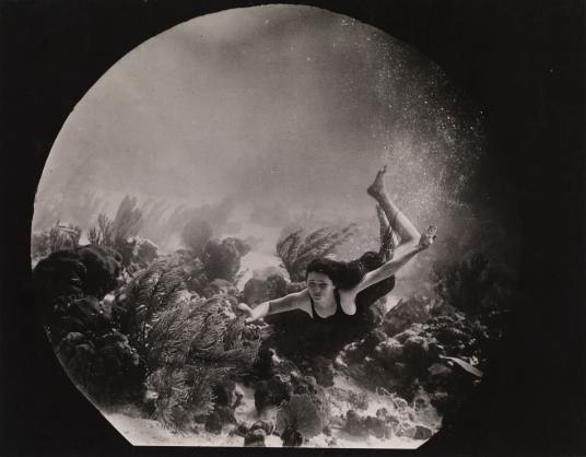 Williamson's Undersea Wonders took this still of actress Lulu McGrath for the 1922 silent film Wonders of the Sea. The production company specialized in film and photos shot through a porthole in their patented submarine